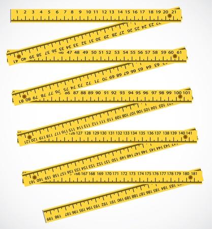metro de medir: herramienta de medición de la madera metros - ilustración