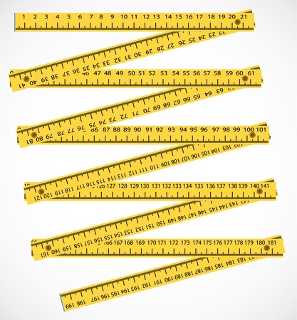 wood working: wood meter measuring tool - illustration