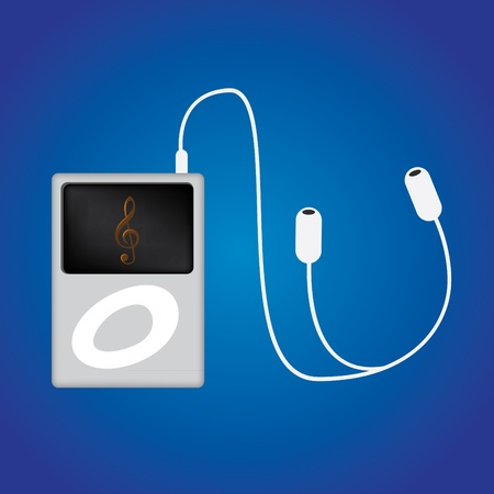 mp3 player: Mp3 music Player illustration