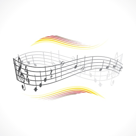 abstract musical background illustration Stock Vector - 12113655