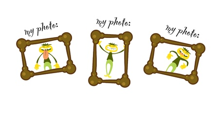 comix: my photo frame comix illustration Illustration