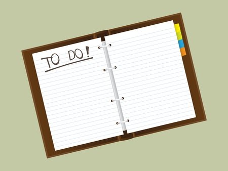 empty notepad diary - reallistic illustration Vector