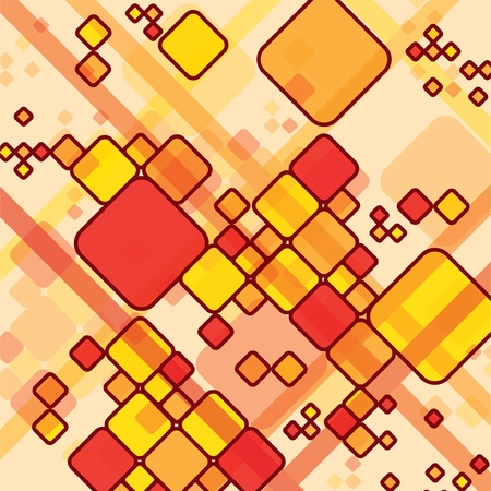 fusion: abstract rectangles background - illustration