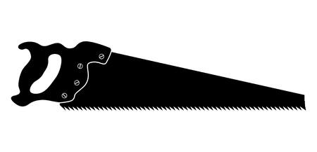 isolé scie silhouette - illustration symbolique Vecteurs