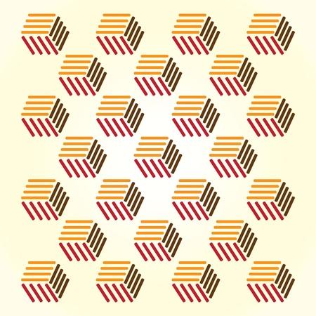 dekor: abstract background from retro cubes - illustration Illustration