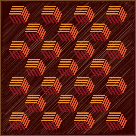 abstract background from retro cubes - illustration Stock Vector - 12450059