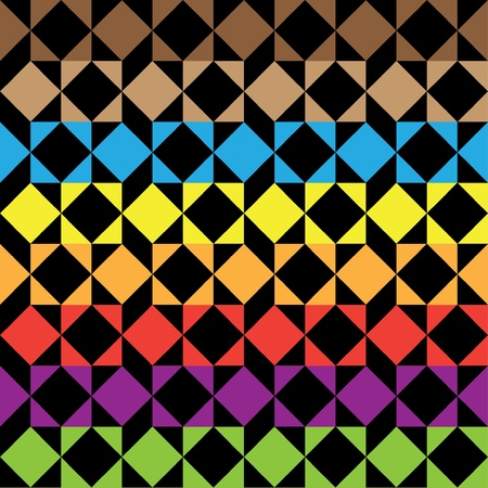 seamless square color pattern Vector