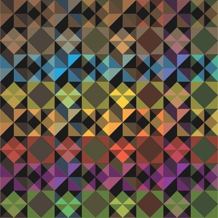 square pattern: eps10 abstract seamless square color pattern - illustration