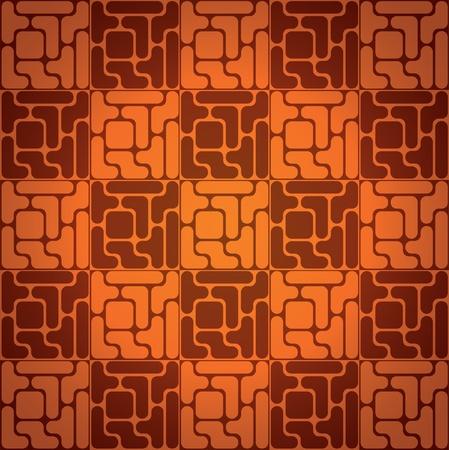 Seamless pattern like tetris game - illustration Vector
