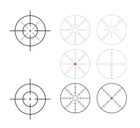 telescopic: juego de direcci�n de punto de mira buscadores - ilustraci�n