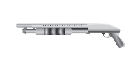 isolated shotgun realistic illustration Stock Vector - 12450097