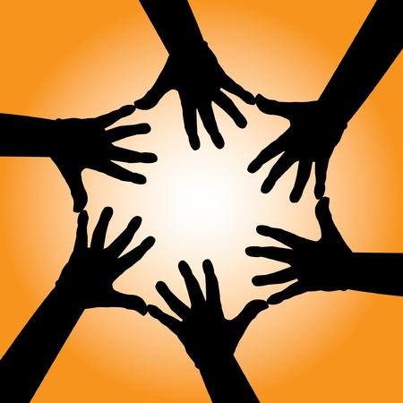 cooperativa: seis cooperativas de la mano del hombre - ilustraci�n