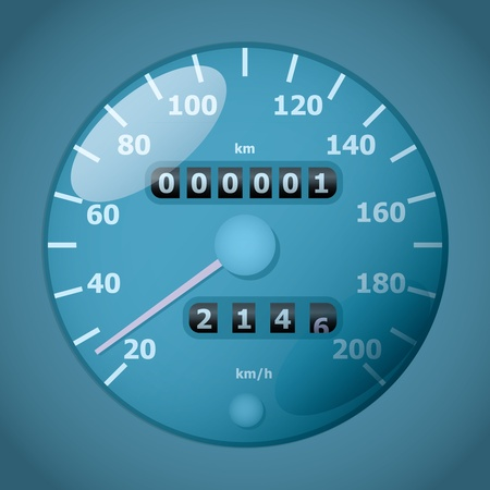 classic analog tachometer - realistic illustration Vector