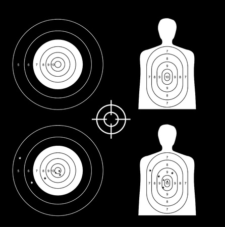 nused and set the targets - illustration Vector