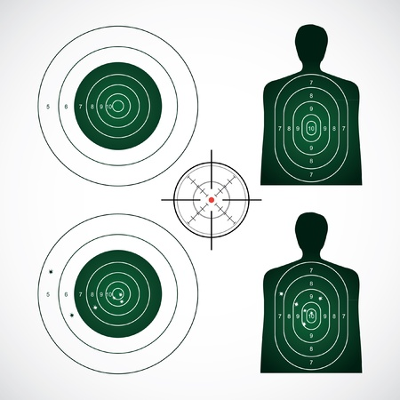 unused and set the targets - illustration Vector