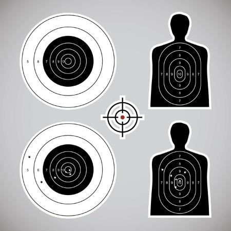 fusil de chasse: utilisé et fixé les objectifs - illustration Illustration