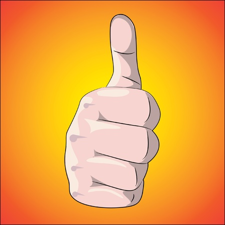 thumb up on gradient background - illustration Stock Vector - 12452965