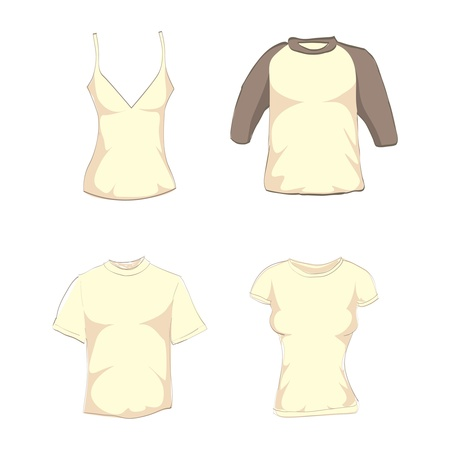 girl shirt: man and woman t-shirts - isolated illustration