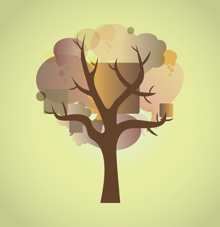 tree of bubbles abstract illustration Vector