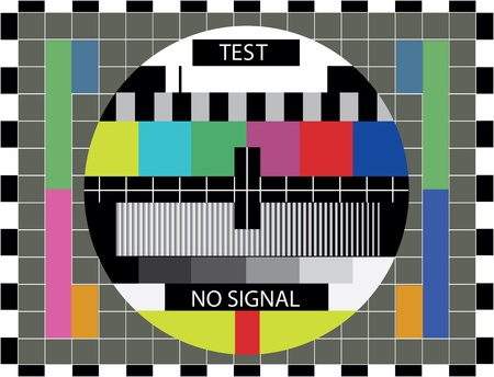 TV color test pattern - illustration Vector