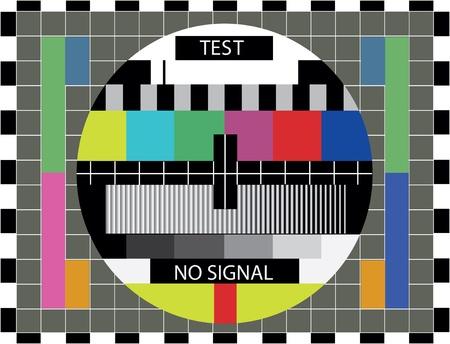 TV color test pattern - illustration Vector