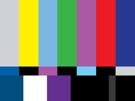tv test color screen - illestration Vector