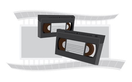 recordable: VHS videotapes recordable cassette illustration