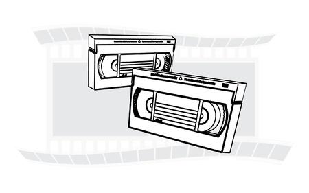VHS videotapes recordable cassette illustration Stock Vector - 12453913