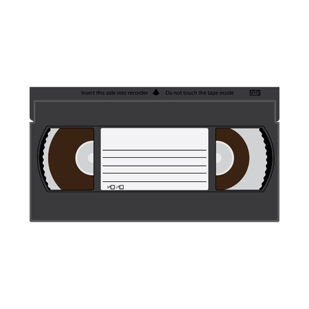 VHS videotape recordable cassette illustration Vector