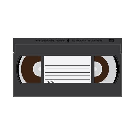 audio cassette: VHS videotape recordable cassette illustration