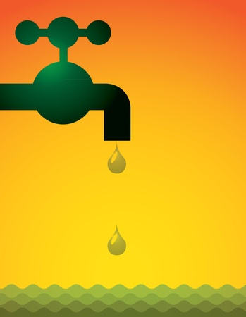 tap water and pipes - illustration Vector