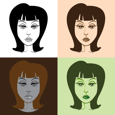 arrogant: Woman in pop-art style illustration Illustration