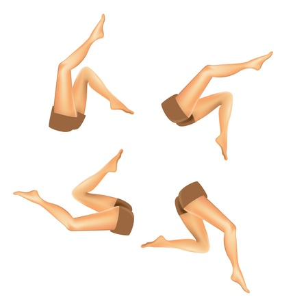 set van verloopnet realistische vrouw benen - illustratie Vector Illustratie
