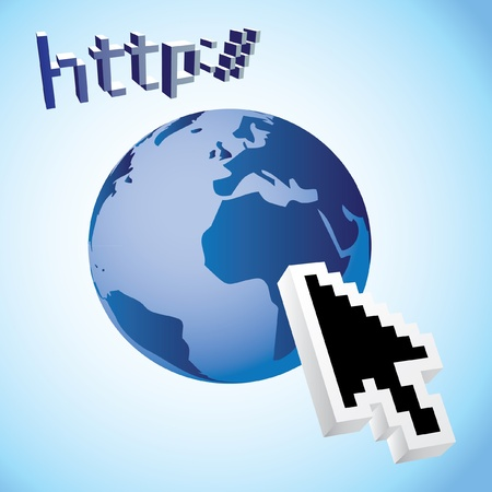 http earth web search engine - illustration Vector