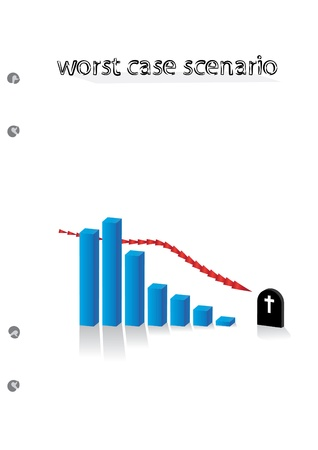 worst case scena graph - illustration Stock Vector - 12453178