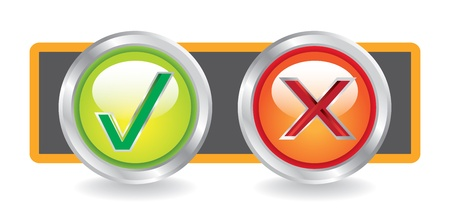 web buttons Yes and No - illustration Vector