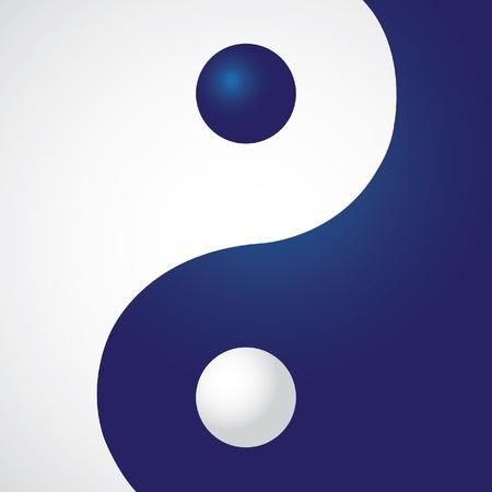 yin y yang: Ying yang en el rectángulo - ilustración