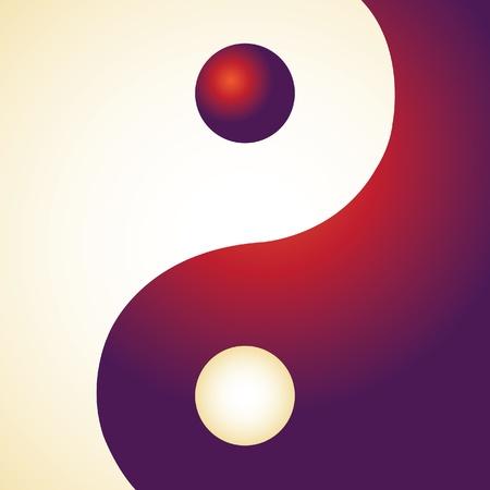 yin y yan: Ying yang en el rectángulo - ilustración