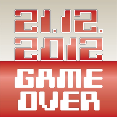 2012 date of apocalypse- Game Over - illustration Vector