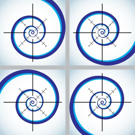 soft center: Set of abstract crosshair - illustration