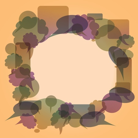 creates: Text buble creates from  other bubbles - illustration Illustration