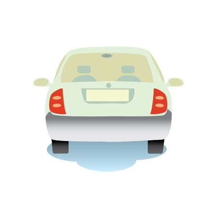 Isolated illustration of the car from the rear