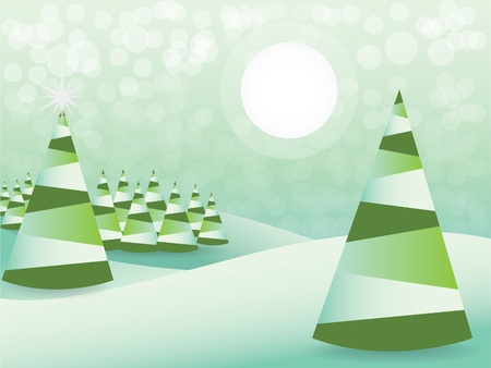 Abstract christmas tree - illustration Vector