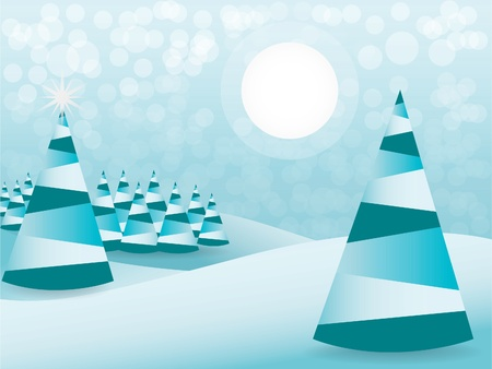 Abstract christmas tree background - illustration Vector