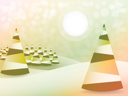 mas: Abstract christmas tree background - illustration Illustration