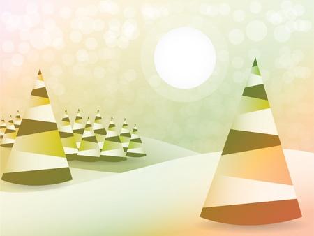 x mas background: Abstract christmas tree background - illustration Illustration