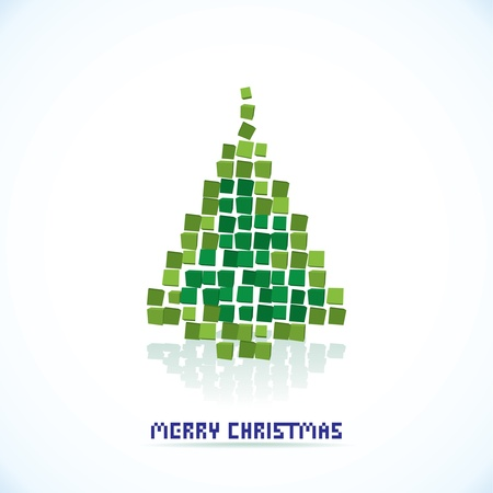 isolated abstract christmas tree illustration Vectores
