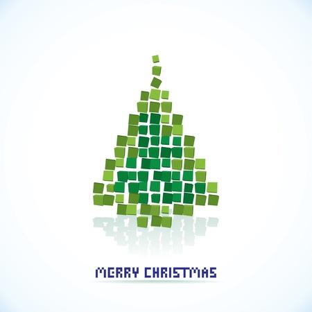 winter wish: isolated abstract christmas tree illustration Illustration