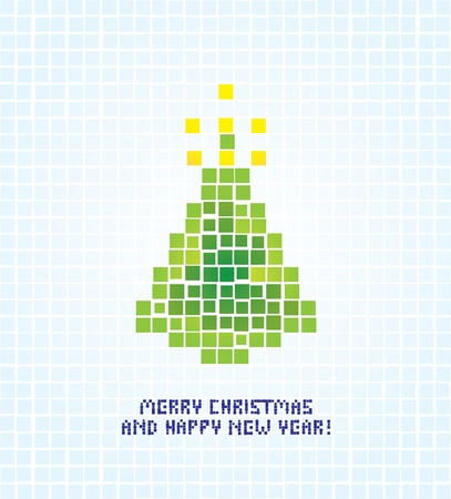 christmas tree illustration: isolated abstract christmas tree illustration Illustration