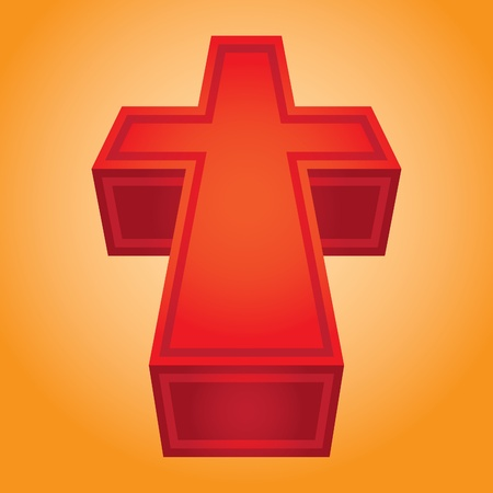 iron cross: 3d symbol christian cross - illustration Illustration